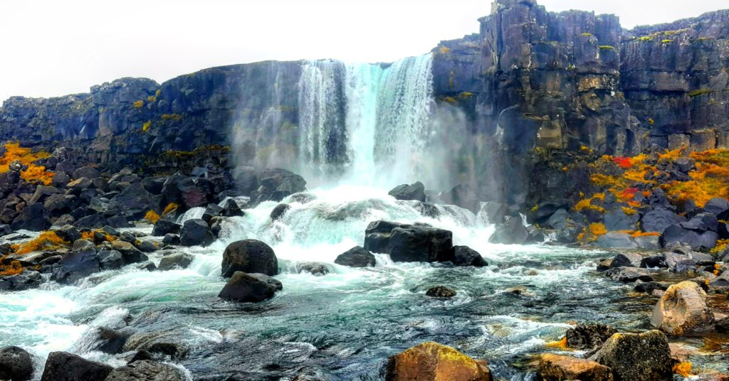 Öxarárfoss in Þingvellir National Park